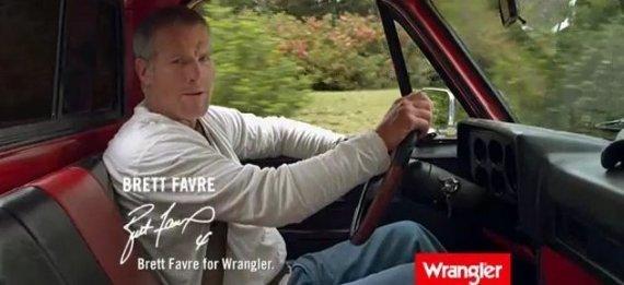 brett favre wrangler ad. Brett Favre Wrangler