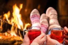 Mulled wine in front of fire | Pic: Getty Images
