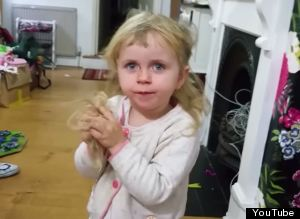 Toddler Cuts Her Hair
