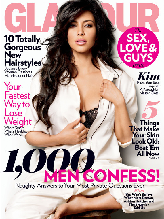 Kim Kardashian In Glamour Dons Corset Talks Playboy Spread