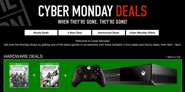 Amazon cyber monday video game deals 2018