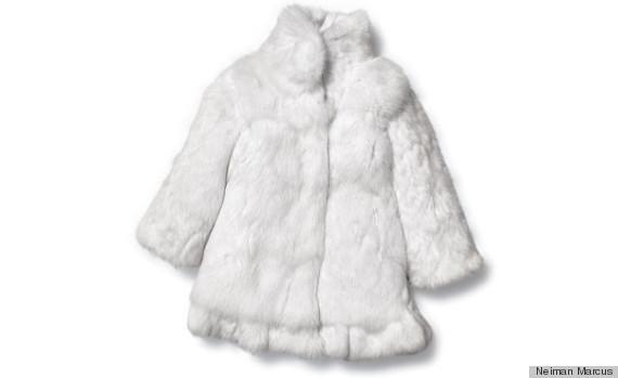 rabbit fur coat girls