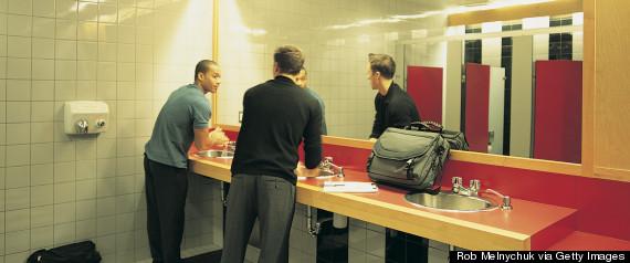 business man washing hands