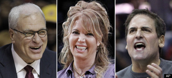 MARK CUBAN PHIL JACKSON JEANIE BUSS