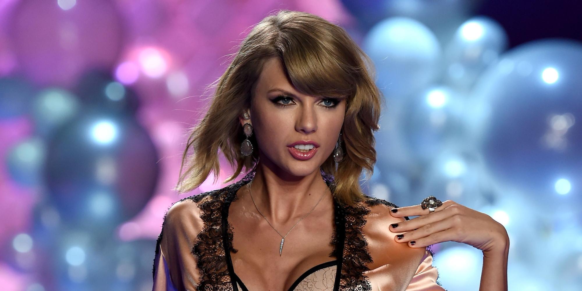 Taylor Swift Slips On Some Silky Lingerie For The Victoria's ...