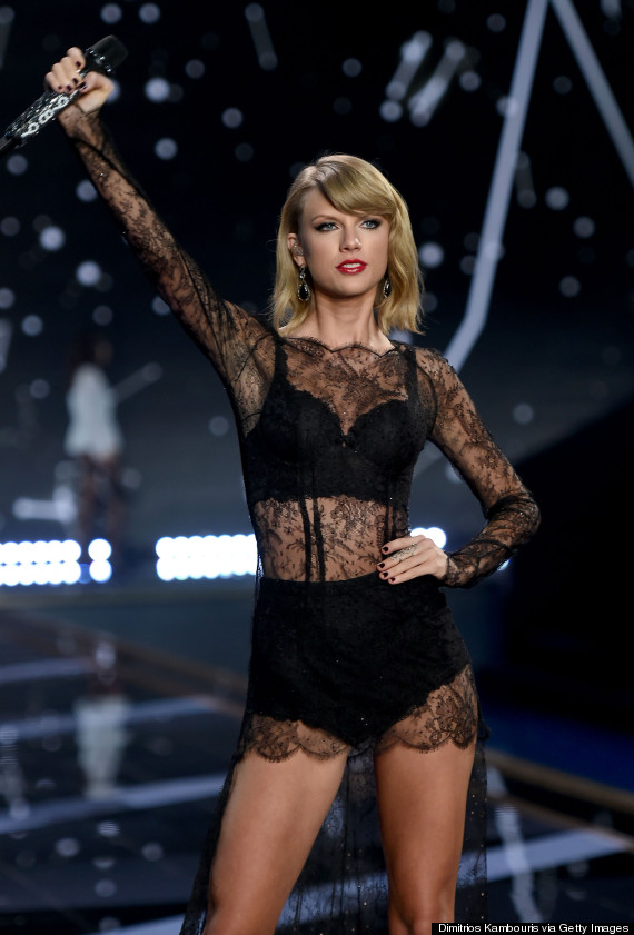 c9ebf6d38190 Taylor Swift Slips On Some Silky Lingerie For The Victoria s Secret ...