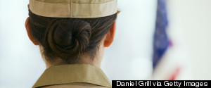 MILITARY WOMAN BACK