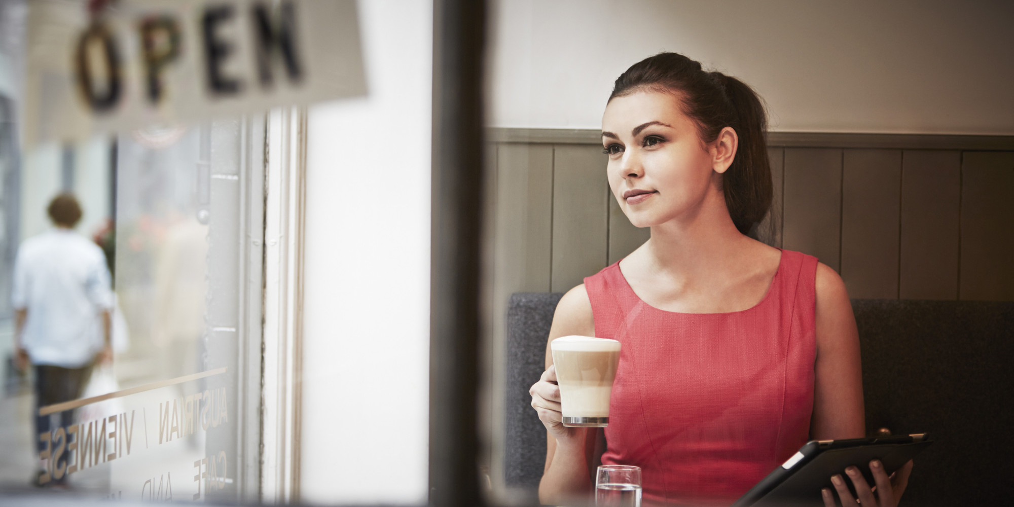 Image result for woman in coffee shop