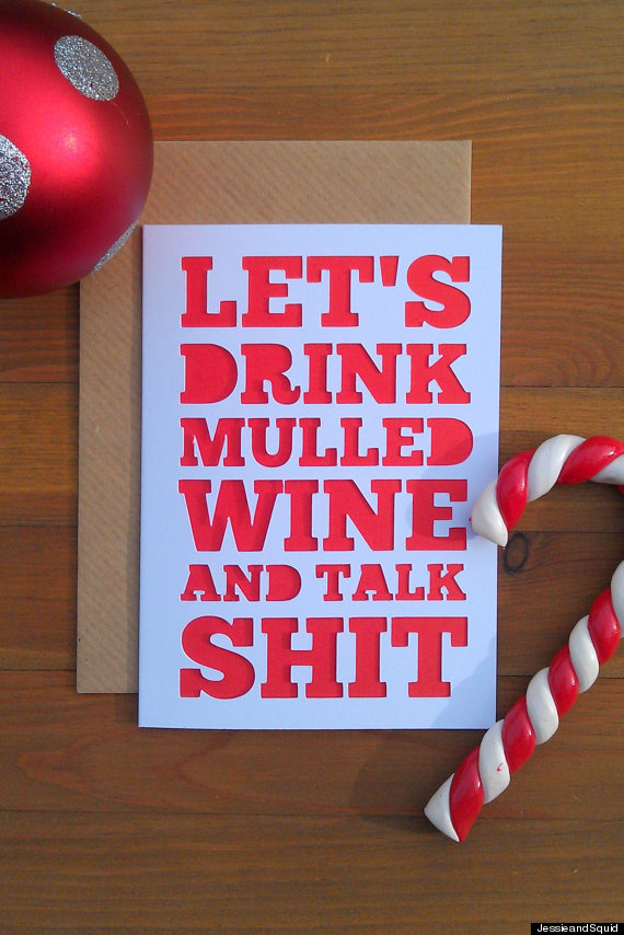 22 clever christmas cards that are actually funny huffpost mulled wine m4hsunfo