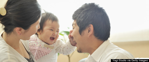 father laughing