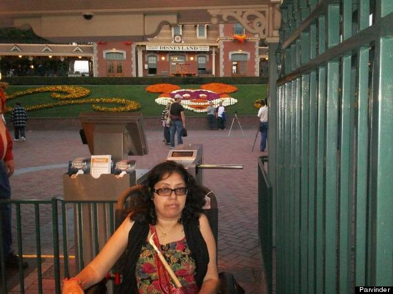 parvinder in disney land