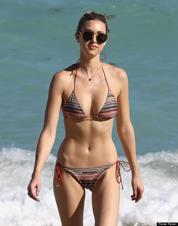 Whitney port hits the beach in a bikini the huffington post