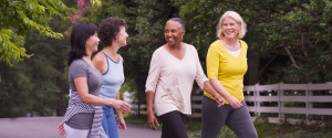 Older Women Exercising Outside