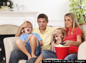 CHILD WATCHING VIOLENT MOVIE