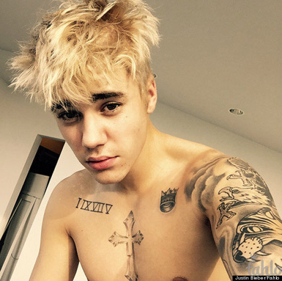 Justin Bieber Is Now A Platinum Blond HuffPost - Justin bieber hairstyle right now