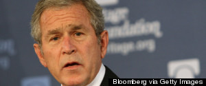 GEORGE W BUSH SCARED