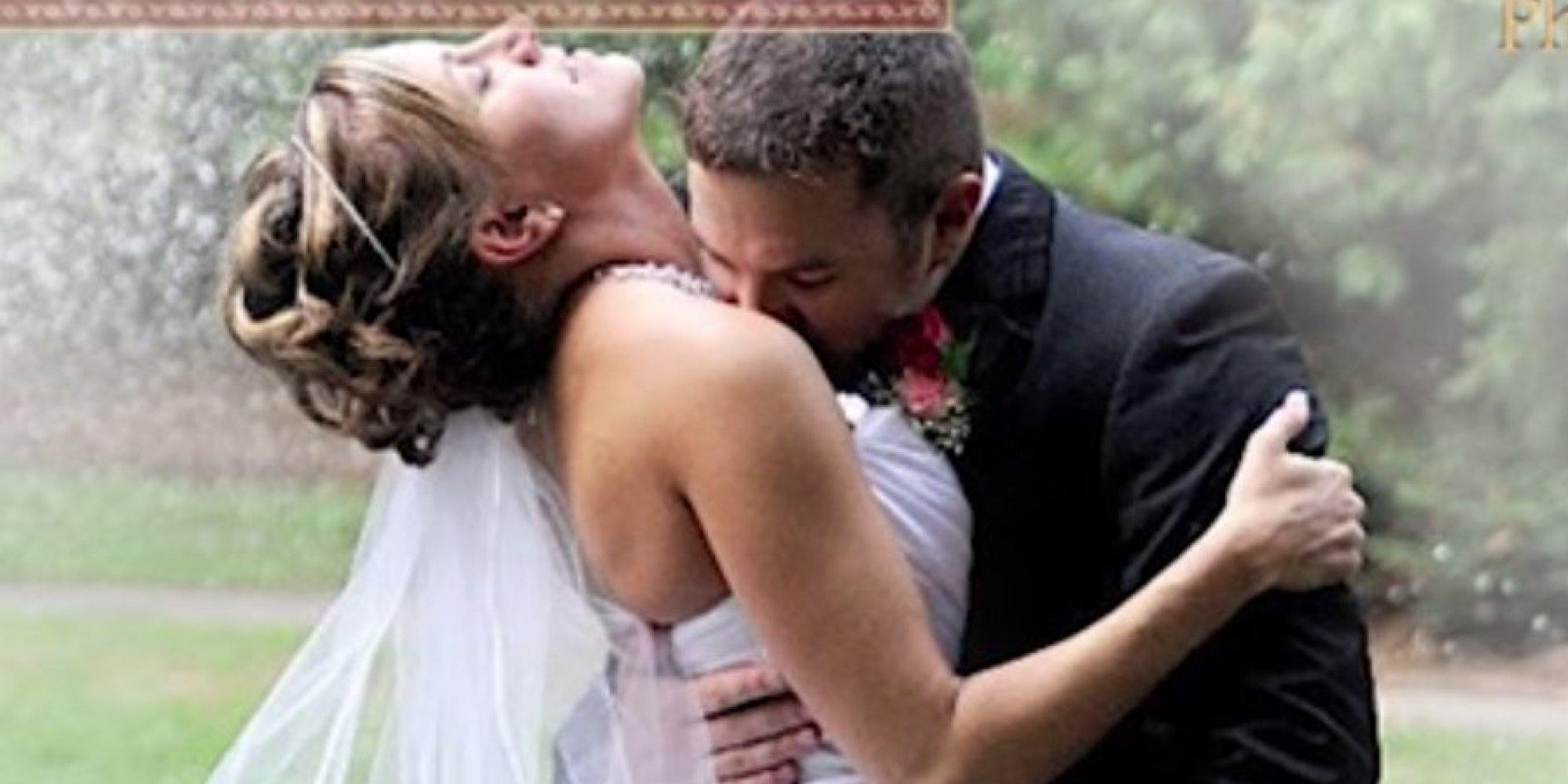 12 painfully awkward wedding kisses huffpost