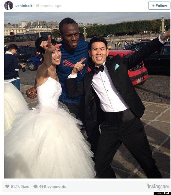 usain bolt wedding