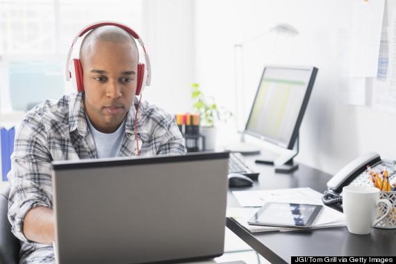 headphones desk