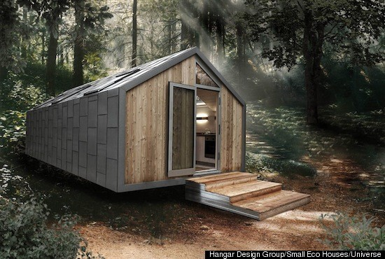 Tiny eco friendly homes huffpost for Small sustainable house plans