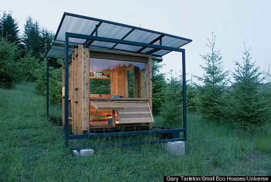Beautiful ... Just Needs To Escape The Madness Of The City And Retreat To Nature,  This 70 Square Foot U201cWatershed Houseu201d Has Abundant Openings To Make The Small  Living ...