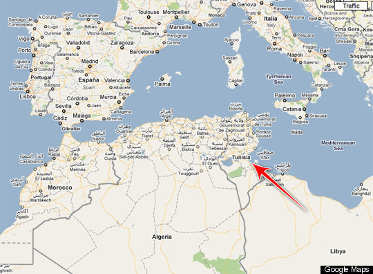 Tunisia MAP: Where Is The Revolution Taking Place? | HuffPost