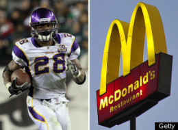 Adrian Peterson Mcdonalds Employee