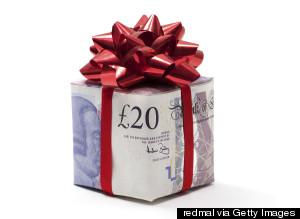 Christmas Present Money Pound