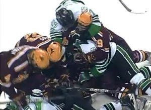 Minnesota North Dakota Hockey Brawl