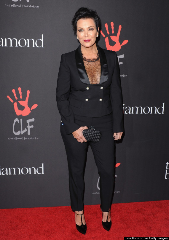 Kim Kardashian And Kris Jenner Go See Through For Rihannas Diamond