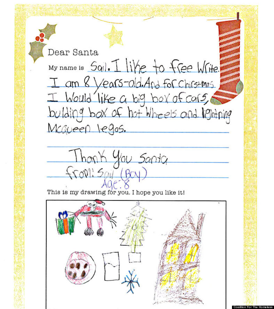 Homeless Kids' Letters To Santa Remind Us Not Everyone
