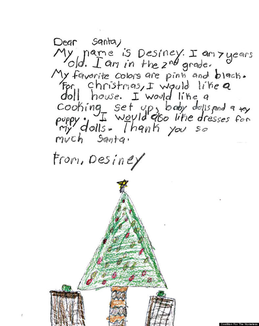 Homeless Kids Letters To Santa Remind Us Not Everyone Will Have A