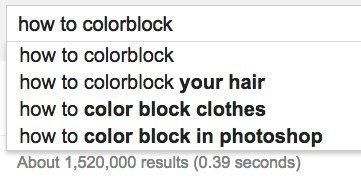 how colorblock google
