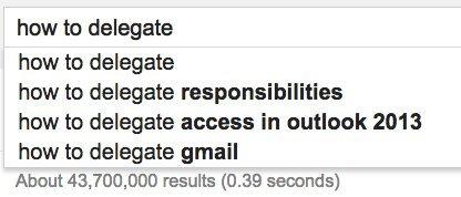 how delegate google