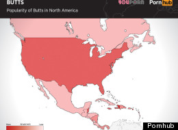 This Map Shows Where America Loves 'Butts' More Than 'Boobs'