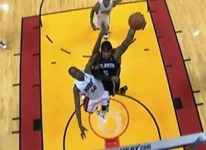 Josh Smith Hawks Heat Dunk