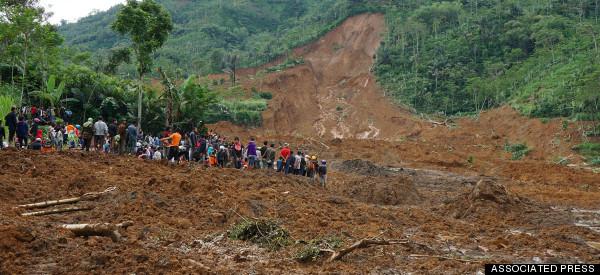 Dozens Missing After Deadly Landslide Buries Indonesian Village