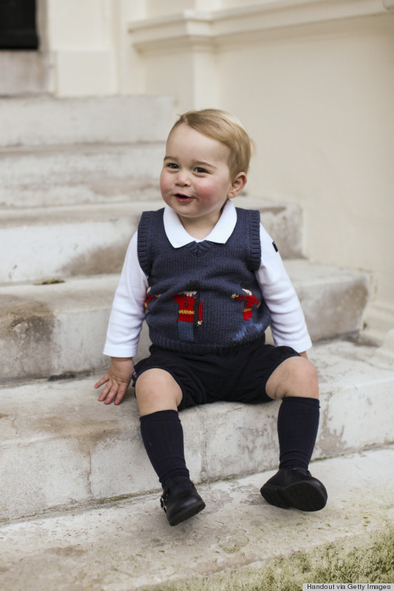 prince george christmas photo