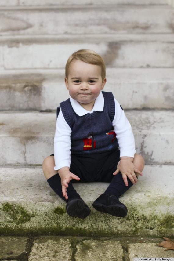 prince george christmas photo