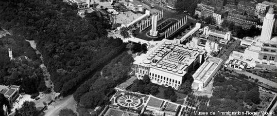 vue aerienne exposition coloniale