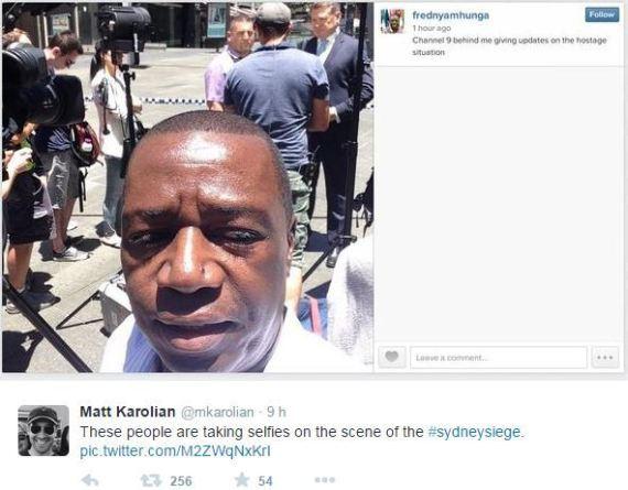 selfie sydney siege otages prise