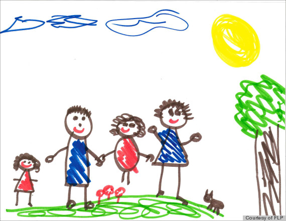family 1 - Kids Drawing Pic