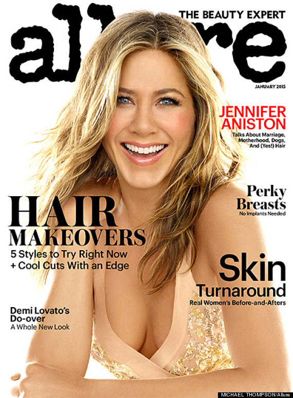 Jennifer Aniston Goes Topless For Allure With Hairstyist Chris ...