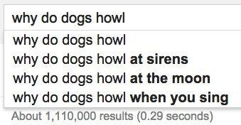 dogs howl google