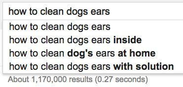 dogs ears google