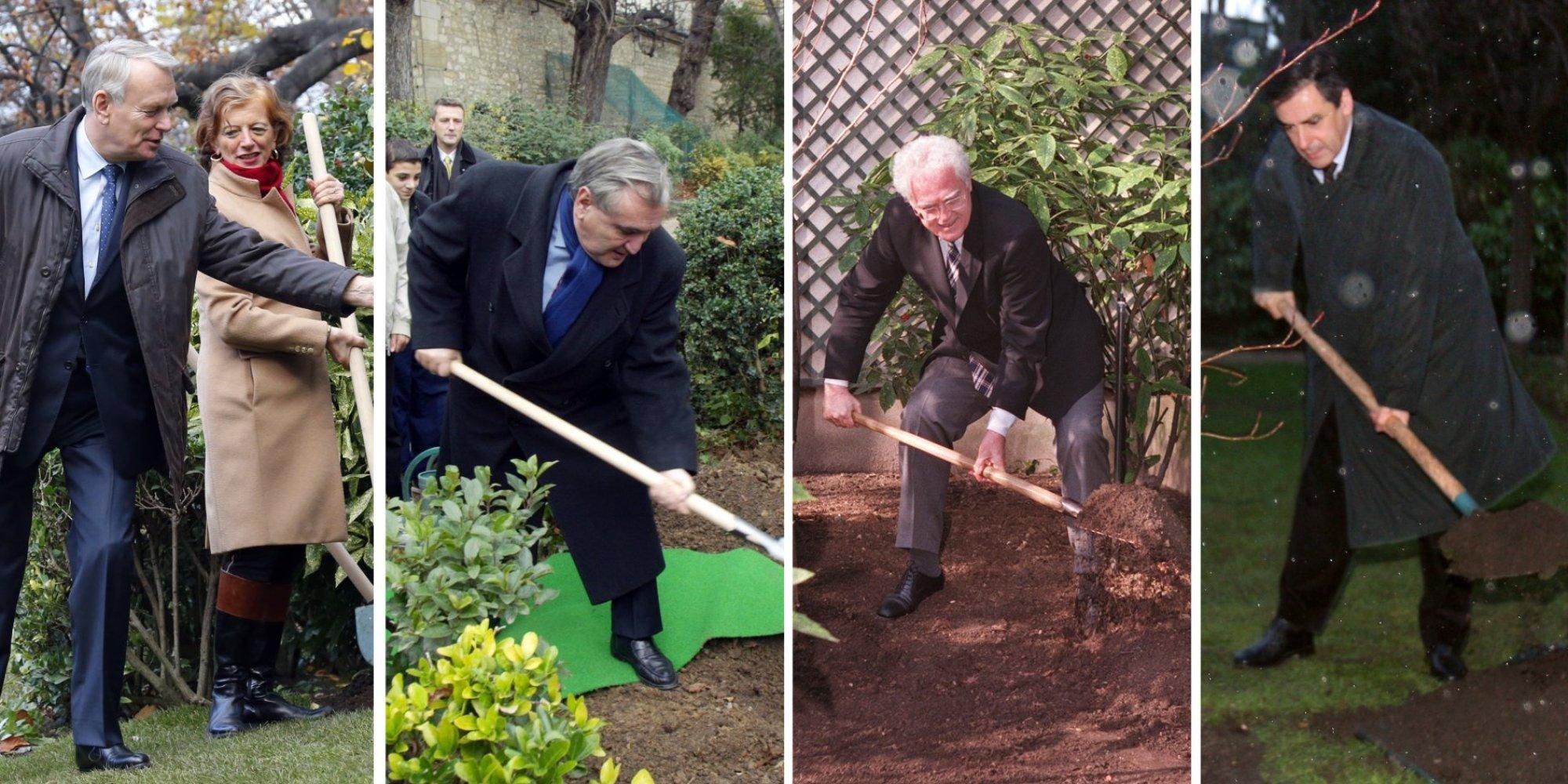 Photos manuel valls plante un arbre matignon quand les for Au jardin d emmanuel