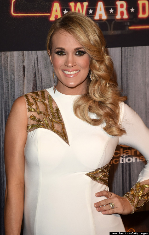 Pregnant Carrie Underwood Is A Vision In White At The