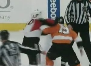 Flyers Senators Fight