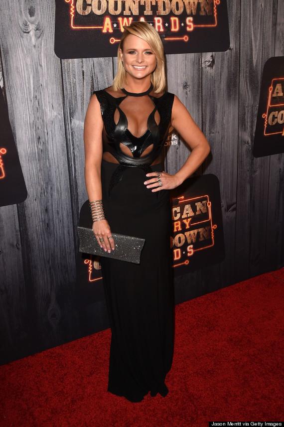 Miranda Lambert Rocks A Sheer Cutout Dress At The Acc
