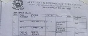 PESHAWAR ATTACK SCHOOL LIST